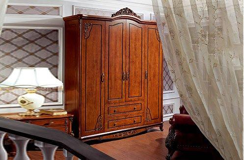Tủ quần áo hiện đại đơn giản bằng gỗ tự nhiên