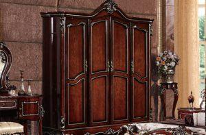 Tủ quần áo gỗ sồi Nga thiết kế tinh tế